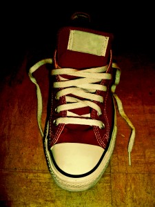 One Red Sneaker