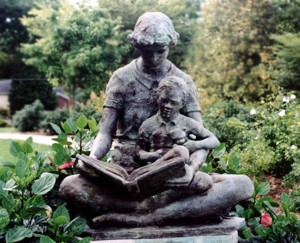 Mother Reading to Son Statue