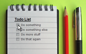 To do List with Pencil