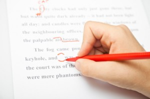Red pen proofreading