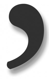 comma rules graphic poster