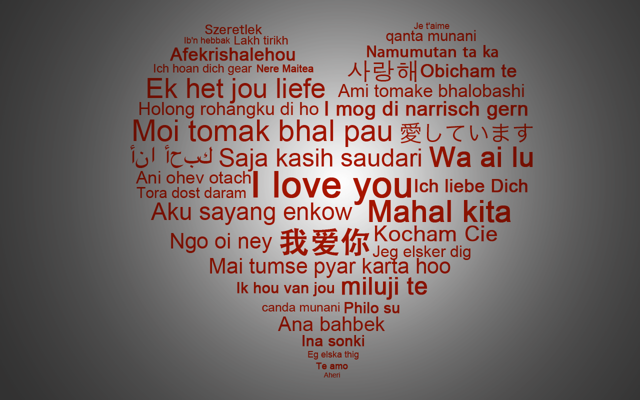 i love you in any language