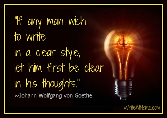 Goethe quote and Lightbulb
