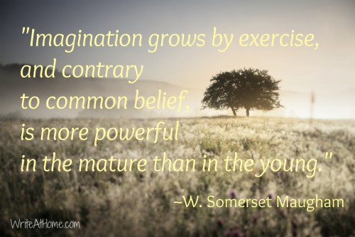 W. Somerset Maugham quote on imagination