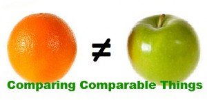 comparing comparable things