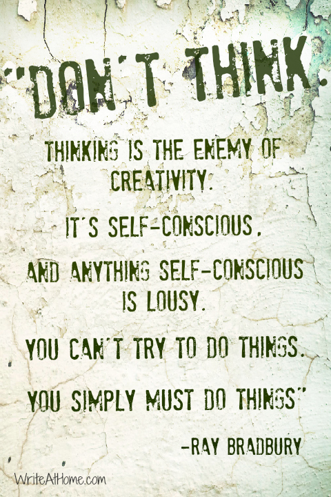 Quote on Creativity by Ray Bradbury