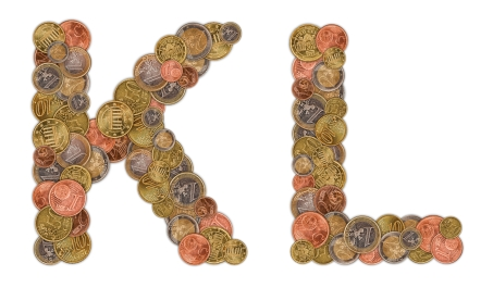 K and L in coins