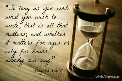 Virginia Woolf Quote on Writing