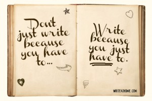 writing quote on journal pages
