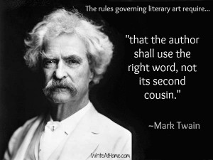 Mark Twain quote on writing