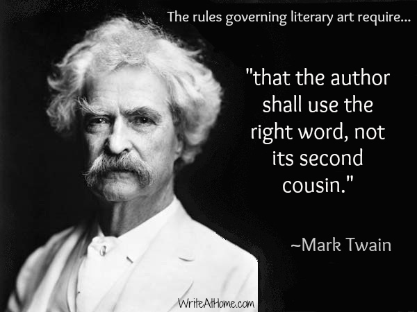 mark twain quotes on writing