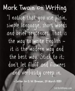 Twain on Writing 1