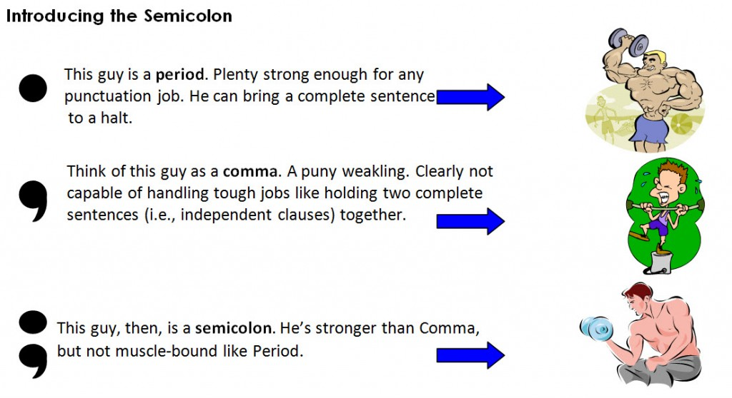 Did I use a semicolon correctly?