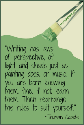 Rules of Writing Green Paint