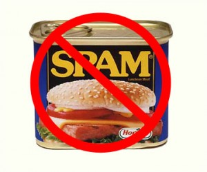 "Spam can with red ""no"" sign"