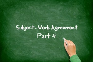 Particular situations that make subject verb agreement complicated