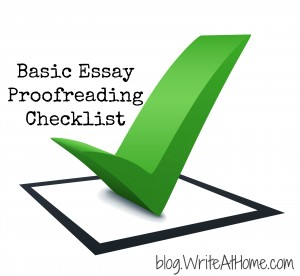 proofreading checklist for the basic essay