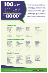 100 Ways to Say Good